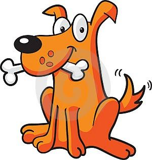 perro hueso El perro y su alimento preferido, el hueso