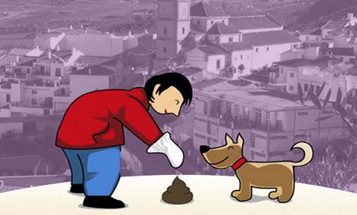 Recogiendo las heces de tu perro